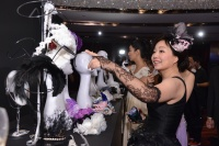 Diana Chen at headpiece Charity Photo Booth