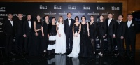 (From left) Hong Kong Ballet's Principal Dancer Mr. Jie Shen, Coryphée Mr. Ricky Song-wei Hu, Senior Ballet Master Mr. Jing Liang, Principal Dancer Ms. Yao Jin, Ballet Mistress Ms. Min Tang, Artistic Director Ms. Madeleine Onne, Mrs. Mira Yeh, Mr. Clive Owen, Ms. Daisy Ho, Mrs. Janice Chan-Choy, Principal Dancer Ms. Fei-fei Ye, Principal Dancer Ms. Yu-yao Liu, Principal Dancer Mr. Wei Wei, Répétiteur and Corps de Ballet member Mr. Yuh Egami, Executive Director Mr. Paul Tam
